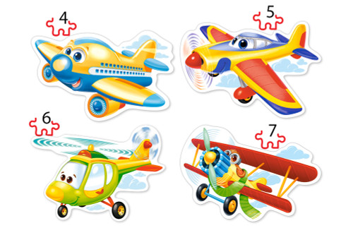 Funny Planes - 4,5,6,7pc Jigsaw Puzzle By Castorland