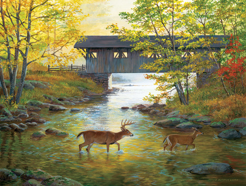 Rock Creek Crossing - 500pc Jigsaw Puzzle by SunsOut