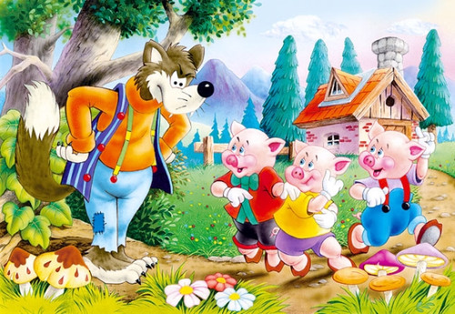 Three Little Pigs - 60pc Jigsaw Puzzle By Castorland