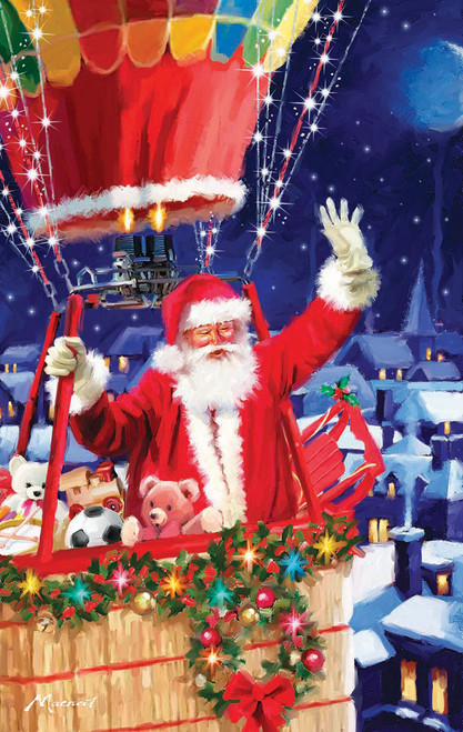 Santa's Balloon - 550pc Jigsaw Puzzle by SunsOut (discon-20508)