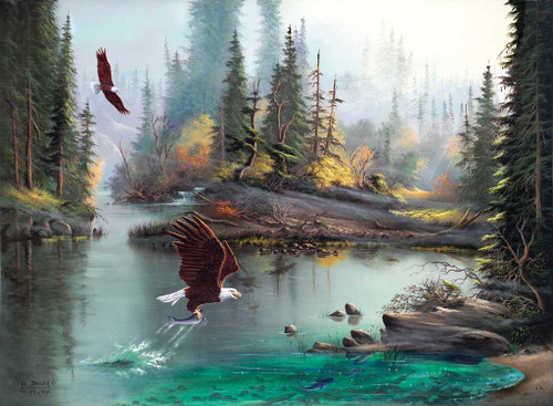 Jigsaw Puzzles - River Eagles