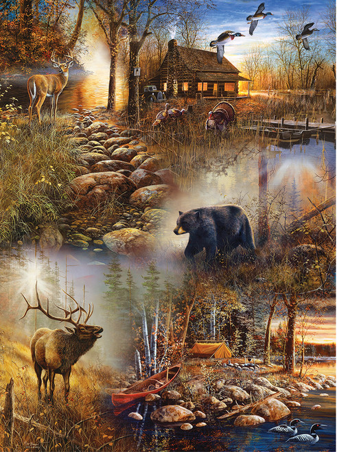 Forest Collage - 1000pc Jigsaw Puzzle by SunsOut