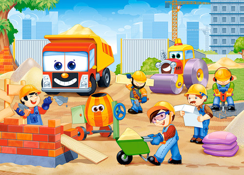 Funny Construction Site - 60pc Jigsaw Puzzle By Castorland