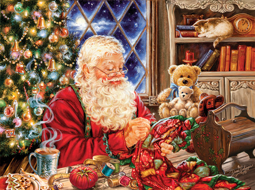 Jigsaw Puzzles - Santa Sew Sweet