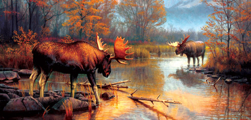 Showdown at  Oxbow - 500pc Jigsaw Puzzle by Sunsout (discon-21234)