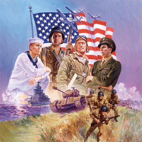 The Armed Forces - 500pc Jigsaw Puzzle by SunsOut