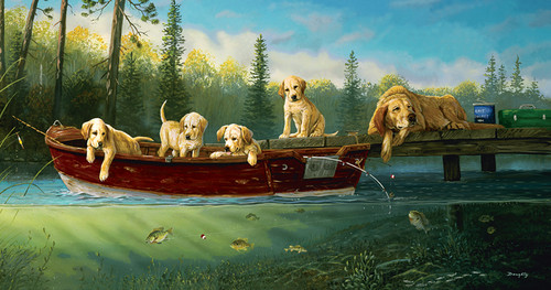 Jigsaw Puzzles - Fishing Lessons