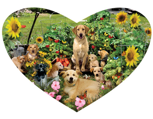 Puppy Heart - 200pc Shaped Jigsaw Puzzle by SunsOut (discon-21019)