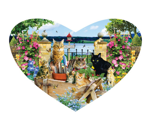 Kitty Heart - 200pc Shaped Jigsaw Puzzle by SunsOut (discon-21020)