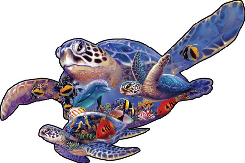 Shaped Jigsaw Puzzle - Swimming Lesson