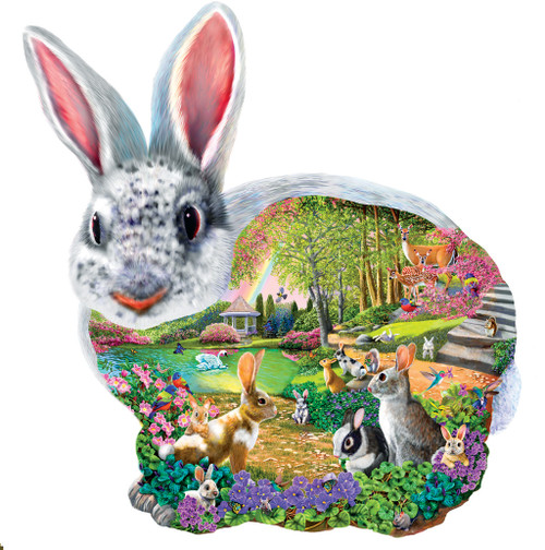 Bunny Hollow - 1000pc Shaped Jigsaw Puzzle by SunsOut