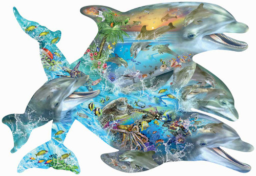 Shaped Jigsaw Puzzle - Song of the Dolphin