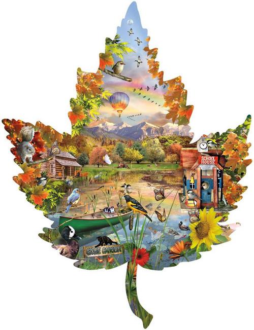 Shaped Jigsaw Puzzles - Autumn Shoreline