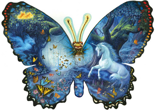 Shaped Jigsaw Puzzle - Fantasy Butterfly