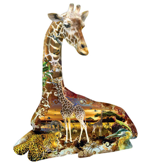Shaped Jigsaw Puzzles - African Spots