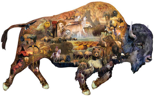 Shaped Jigsaw Puzzle - Prairie Dweller