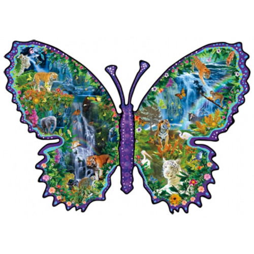 Shaped Jigsaw Puzzles - Rainforest Butterfly
