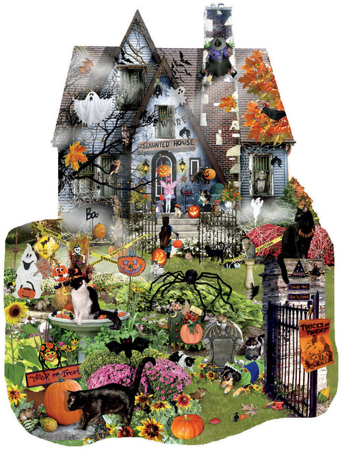 Shaped Jigsaw Puzzles - Spooky House