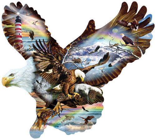 Shaped Jigsaw Puzzle - Eagle Eye