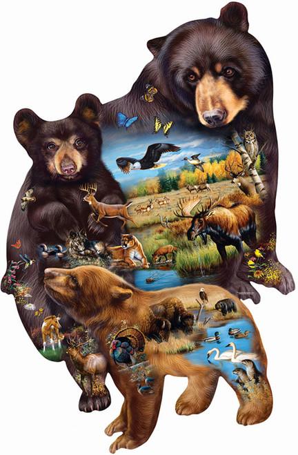 Shaped Jigsaw Puzzles - Bear Family Adventure