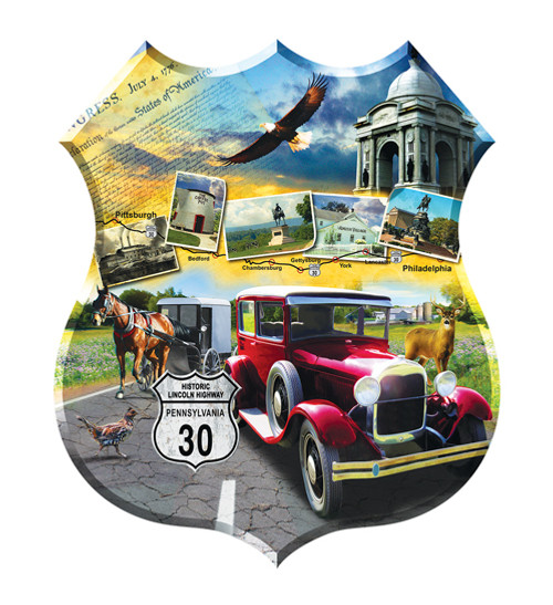 Shaped Jigsaw Puzzles - Lincoln Highway