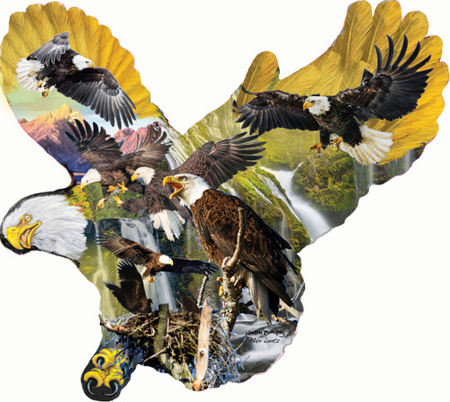 Lights of the Eagles - 1000pc Jigsaw Puzzle by SunsOut (discon)