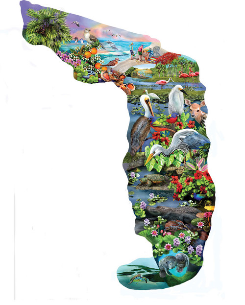 Florida Wildlife - 845pc Shape Jigsaw Puzzle by SunsOut