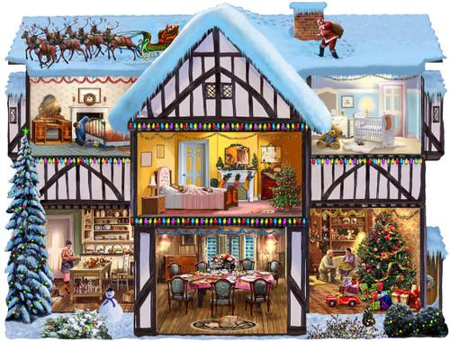 Christmas Eve - 1000pc Shape Jigsaw Puzzle by SunsOut