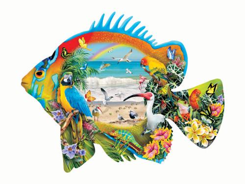 Beachfront: - 1000pc Shape Jigsaw Puzzle by SunsOut