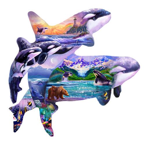 Orca Habitat - 1000pc Shaped Jigsaw Puzzle by SunsOut