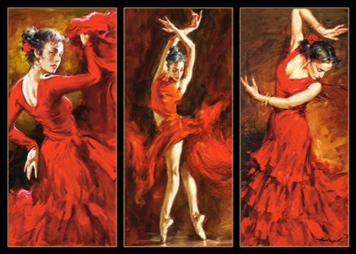 Crimson Dancers - 1000pc Jigsaw Puzzle By Castorland