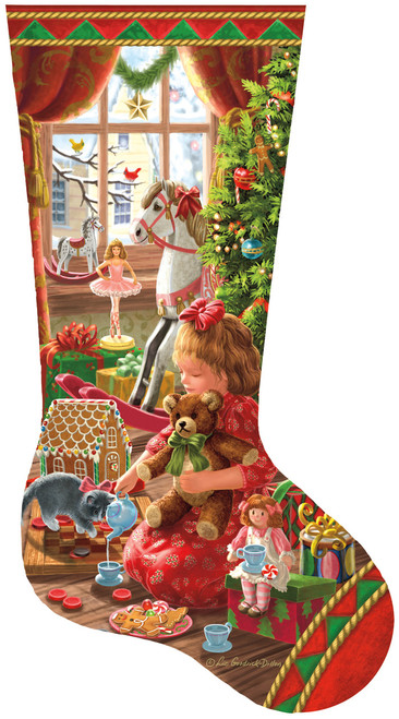 A Girl's Stocking - 800pc Shaped Jigsaw Puzzle by SunsOut