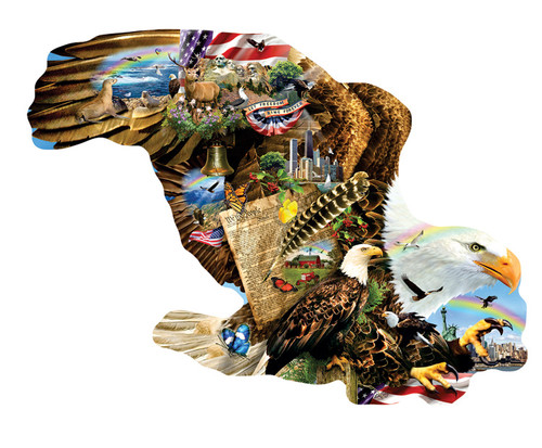 Freedom for All - 900pc Shaped Jigsaw Puzzle By Sunsout