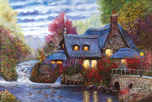 Tomax Jigsaw Puzzles - Sunset Cottage