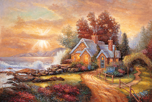 Tomax Jigsaw Puzzles - Seaside Cottage
