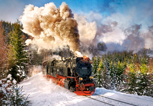 Steam Train - 1000pc Jigsaw Puzzle By Castorland