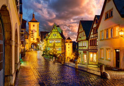 Rothenburg at Night - 1000pc Jigsaw Puzzle By Castorland