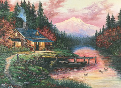 Tomax Jigsaw Puzzles - Cottage By The Lake