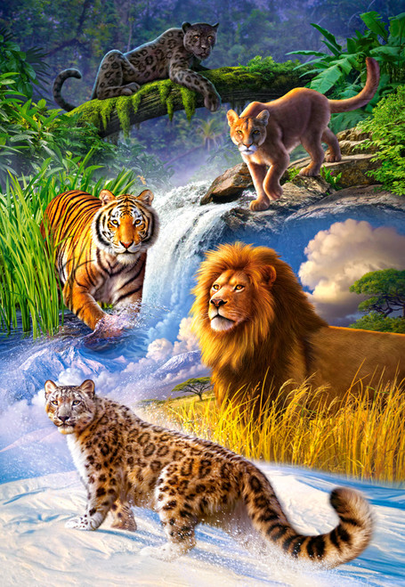 Big Cats - 1000pc Jigsaw Puzzle By Castorland