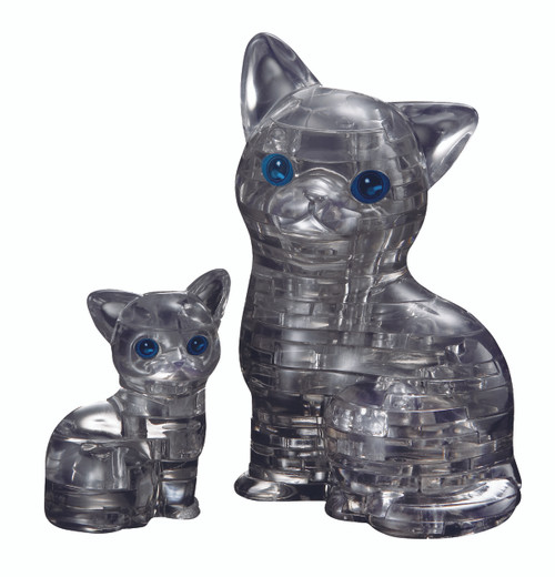BePuzzled Cat & Kitten Black 3D Crystal Puzzle