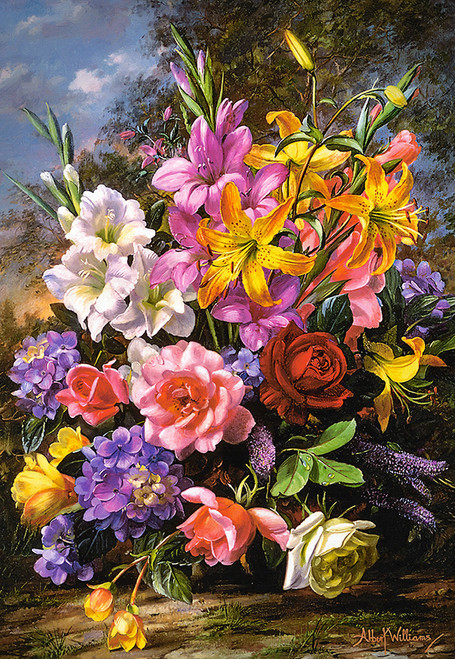 A Vase of Flowers - 1000pc Jigsaw Puzzle By Castorland