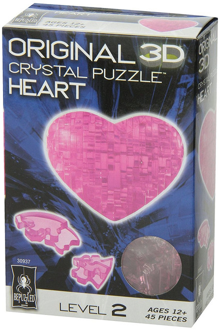 Heart (Pink) - 3D Crystal Puzzle