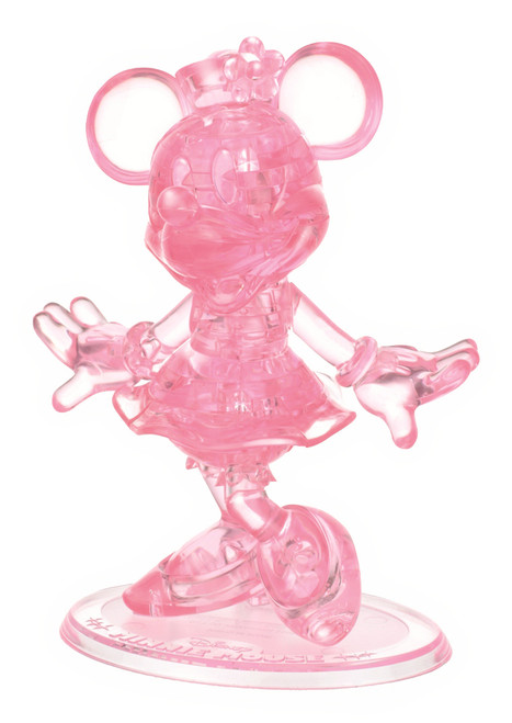 BePuzzled Minnie Mouse II Pink 3D Crystal Puzzle