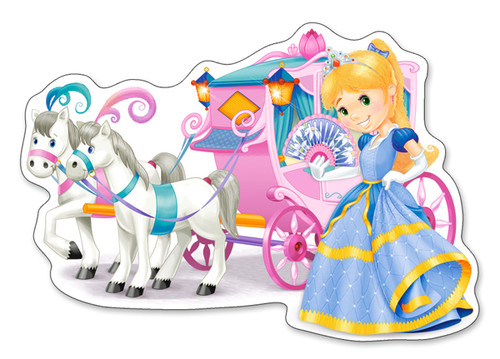 Princess Carriage - 12pc Jigsaw Puzzle By Castorland (discon-24164)