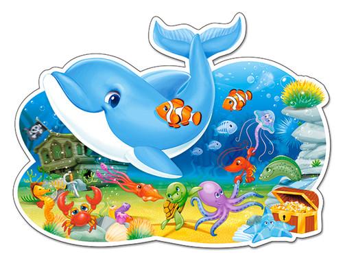 Underwater Friends - 12pc Jigsaw Puzzle By Castorland (discon-24169)