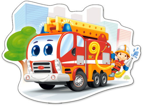 Fire Engine - 12pc Jigsaw Puzzle By Castorland (discon-24170)