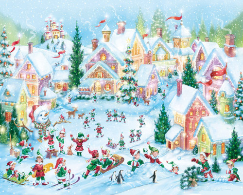 Elf Village - 1000pc Jigsaw Puzzle By Vermont Christmas Company