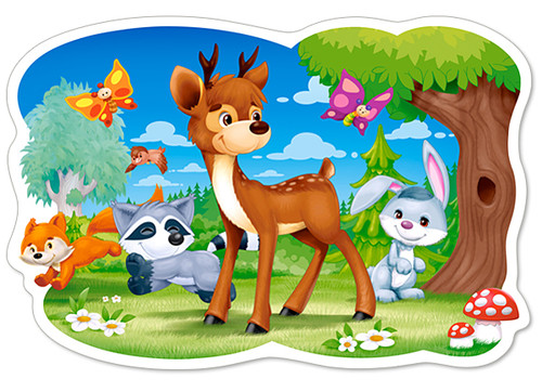 A Deer and Friends - 12pc Jigsaw Puzzle By Castorland (discon-24175)