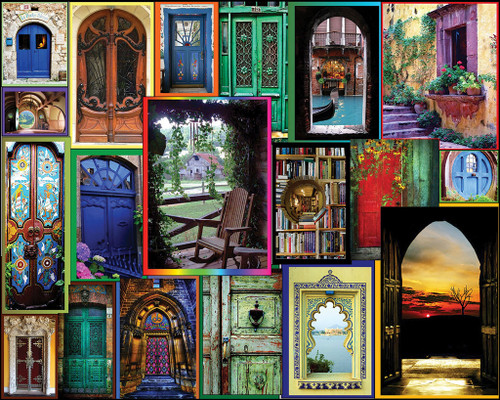 White Mountain Doors of the World Jigsaw Puzzle