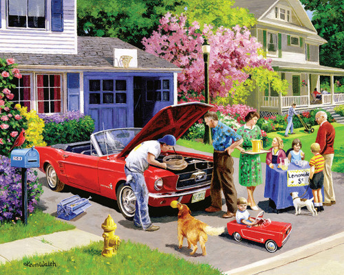 White Mountain Ready for a Drive 1000-piece Jigsaw Puzzle